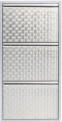 Kare Design Schoenenkast Caruso 3 Zilver 103x50x14